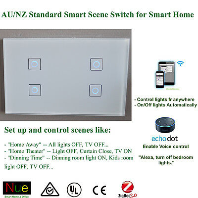 AU Approved Smart ZigBee Light Switch or Dimmer Power Point Google Home Alexa 5