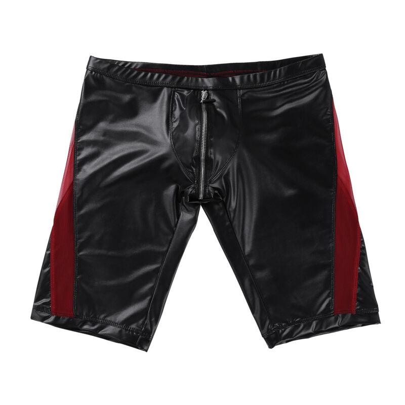 Herren Boxer Shorts Briefs Bikinihose mit Reißverschluss Unterwäsche Badehose 6