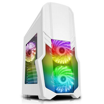 Fast Gaming PC Computer SET Monitor Quad Core i5 16GB 1TB Win 10 2GB GT710 2