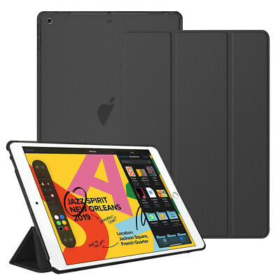 "For New Apple iPad 7th Generation 10.2"" Smart Shell Translucent Back Tablet Case 2"