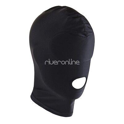Kopfmaske Blickdicht Unisex Strecken Maske mit Augen und Mund Dessous Schwarz 3