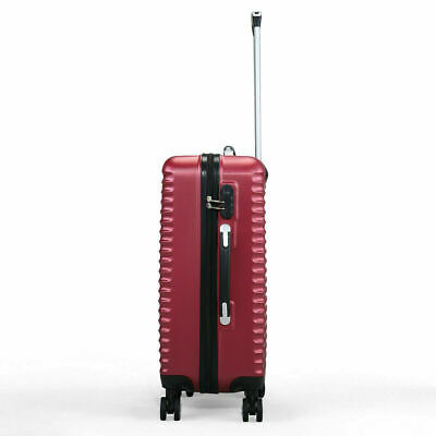 3 Piece Luggage Set Hardside ABS+PC Carry On Bag Travel Trolley Suitcase Spinner 10