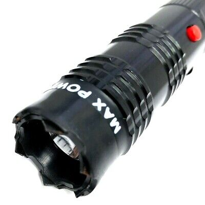 BLACK MONSTER Metal Stun Gun 16 Million Volt Rechargeable LED Flashlight New! 3