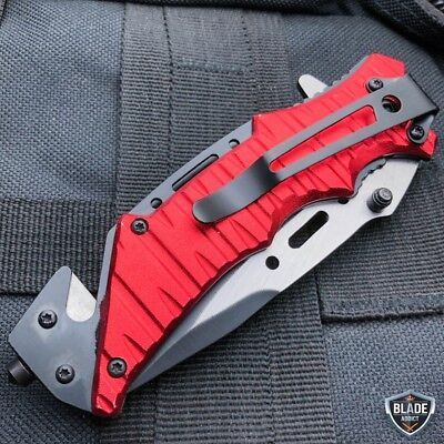 Military Tactical Camping Spring Assisted Open Folding Rescue Pocket Knife USMC 3