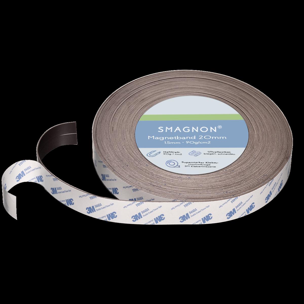 Magnetband mit 3M-Kleber selbstklebend Fliegengitter Band Magnetfolie Klettband 5