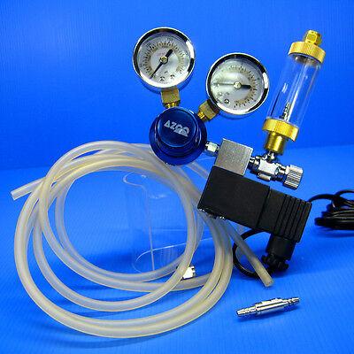 CO2 Pression Régulateur System- magnétique Solenoid Bubble tank contre 2