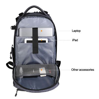 K&F Concept Camera Photo Backpack Bag Case Waterproof for Canon Nikon Sony DSLR 10