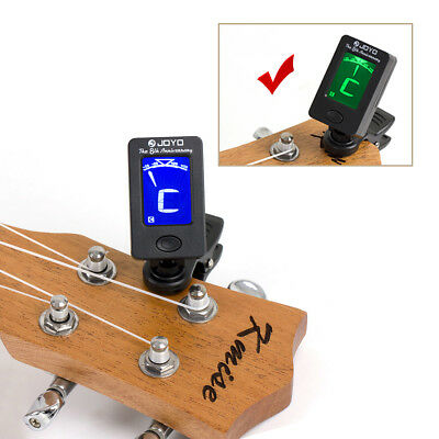 Acoustic Guitar LED Clip-on Guitar Tuner Headstock for Bass Violin Ukulele 3