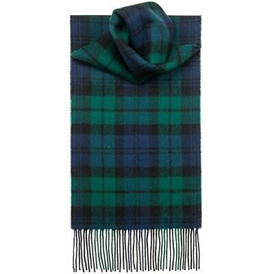 Womens Mens Winter 100% Cashmere Plaid check Scarves Wool Scarf Scotland Made 3
