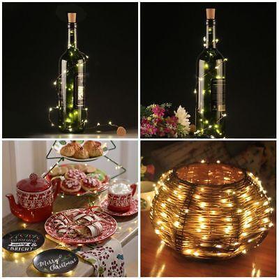 10 20 30 LED Cork Shaped Copper Wire String Light Wine Bottle For Decor RD494 10