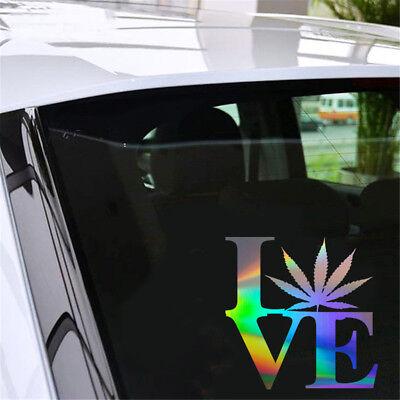 2PCS Vegan Pot Tableware Leaf Sticker Car Truck Bumper Laptop Window Vinyl Decal