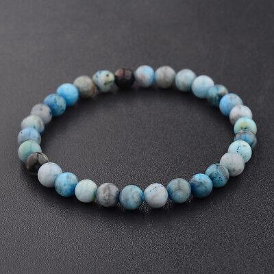 Natural Gemstone Beads Buddha Head Beaded Men Womens Lava Rock Handmade Bracelet