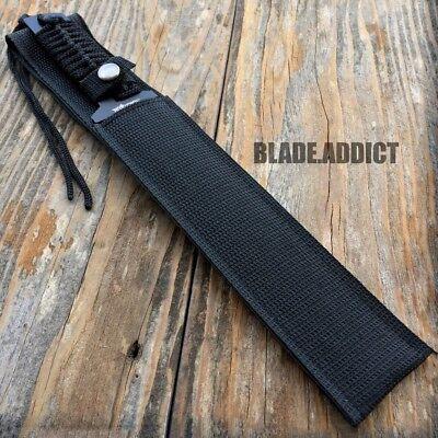 "13"" TACTICAL SURVIVAL Rambo Full Tang FIXED BLADE KNIFE Hunting w/ SHEATH 3"