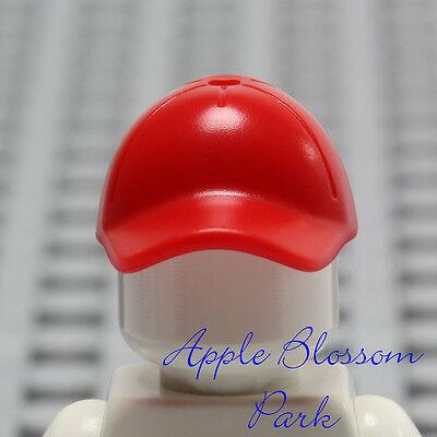 6998eae53fc ... NEW Lego Minifig RED BASEBALL CAP - Boy Girl Minifigure Sports Hat Head  Gear 2
