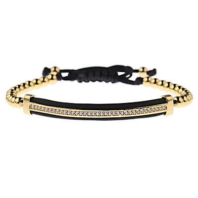 Luxury Jewelry Women Men's Micro Pave CZ Crown Braided Adjustable Bracelets Gift 7