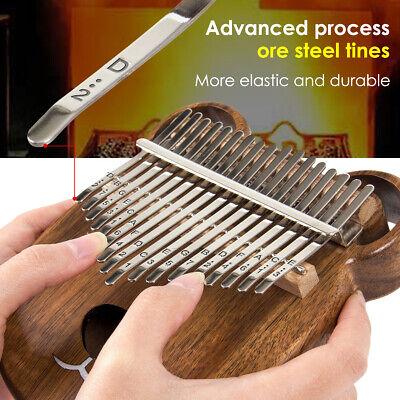 Kalimba 17 Thumb Piano Finger Key Mbira Education Musical Instrument Wood 3
