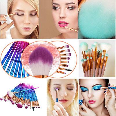 20PCS make up Blending Details Eyebrow Eyeshadow Eyelash Powder Lip Brushes Set