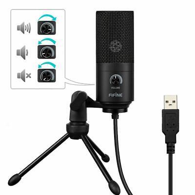 USB-Mikrofon Metall Kondensatormikrofon für PC/Laptop Aufnahmemikrofon Kardioid 6