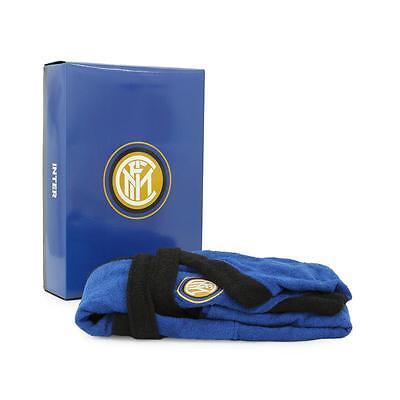 Accappatoio F.C. Inter per adulto Ufficiale in spugna di cotone N955 2
