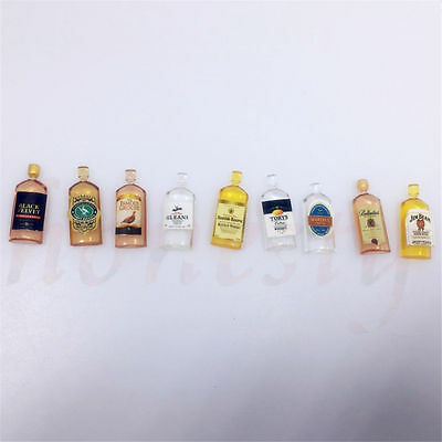 6pcs Dollhouse Miniature Wine Whisky Bottles Shop Pub Bar Drinks Accessory 2