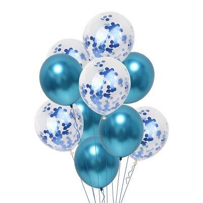 10 Pièces / Lot Chrome Confettis Ballons Bouquet Fête D'Anniversaire Décor 3