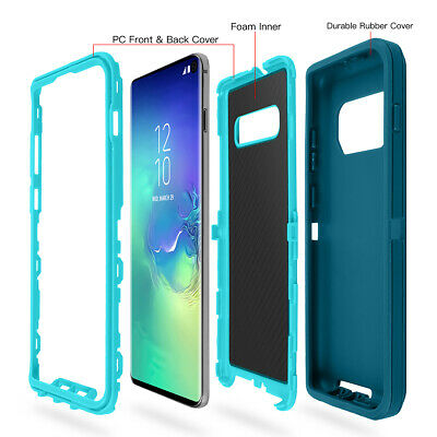 Samsung Galaxy S10+ S9 Note 8 9 Case Shockproof Hybrid Rubber Armor Rugged Cover 3