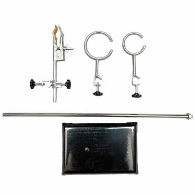"""Laboratory Stand Lab Holder Clamp Flask/Condenser/Tube Iron 50cm/19.7"""" Height 3"""