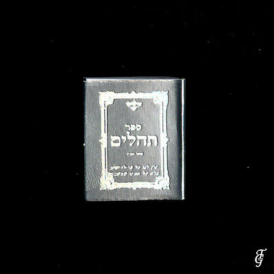 ~ Judaica Tehilim /real Holy Book Miniature  Silver / 11 3