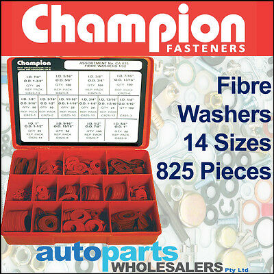 CHAMPION CARBURETTOR RED FIBRE  WASHERS ASSORTMENT KIT 405 Pieces
