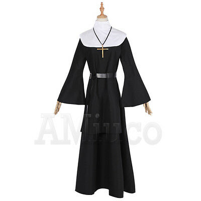 Women Nun Robes Dress For The Conjuring Scary Suit The Nun Valak Cosplay Costume 5