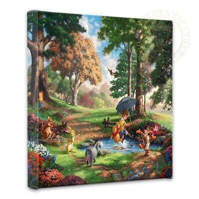 Thomas Kinkade Studios Winnie the Pooh I 14 x 14 Gallery Wrapped Canvas Disney 3