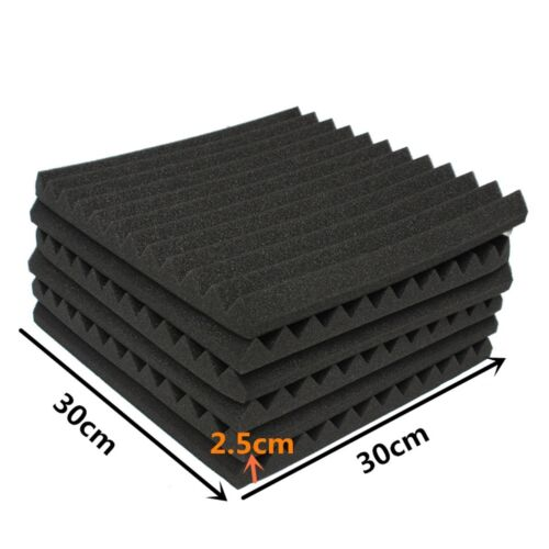 UK 12PCS Acoustic Panels Tiles Studio Sound Proofing Insulation Closed Cell Foam 3