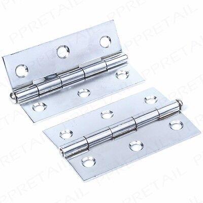"""PACK OF 10 LOOSE PIN Hinges 3/""""//75mm Internal Door//Cupboard//Frame Silver Hang Set"""