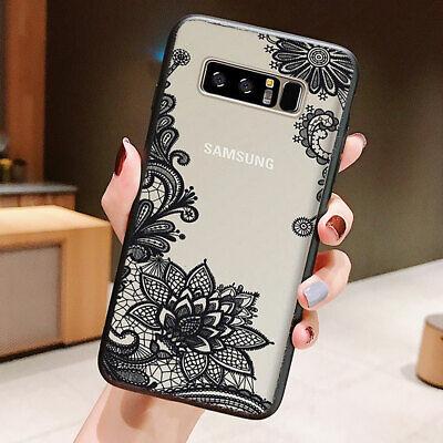 Galaxy Note 10 Plus 10+ S10e S10+ Case Mandala Lace Clear Bumper Cover F Samsung 2