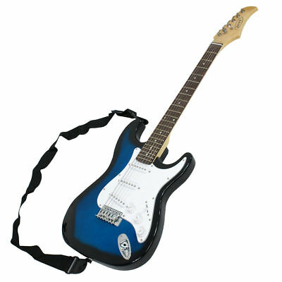 Full Size Blue Electric Guitar with Amp, Case and Accessories Pack Beginner 2