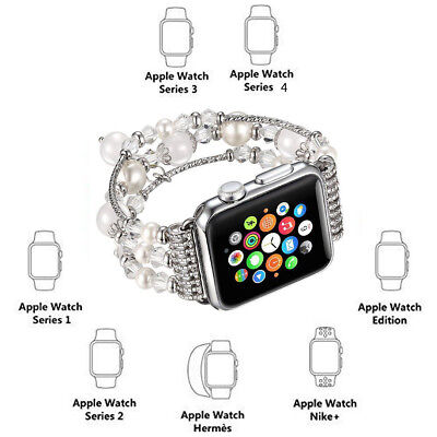 For Apple Watch Series 5 4 44MM Bling Agate Beads Strap Bracelet Band iWatch 2 3 2