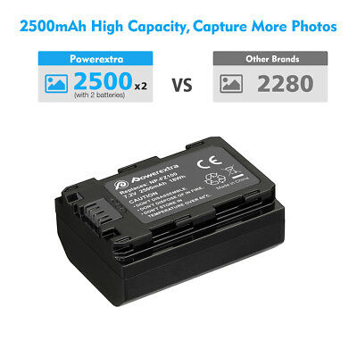 NP-FZ100 Battery 2500mAh & LCD Dual Charger for Sony A9 A7R III A7 III Camera