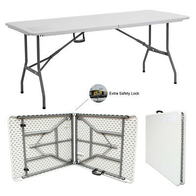 6FT HEAVY DUTY 1.8 Meter FOLDING CATERING CAMPING TRESTLE TABLE BBQ PICNIC PARTY 2