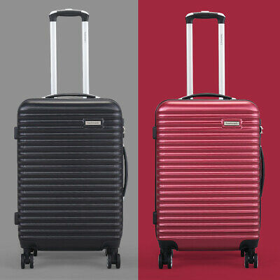 BHC 3PCS Luggage Bag Carry On Set Trolley Suitcase ABS+PC w/Cover Travel Spinner 2