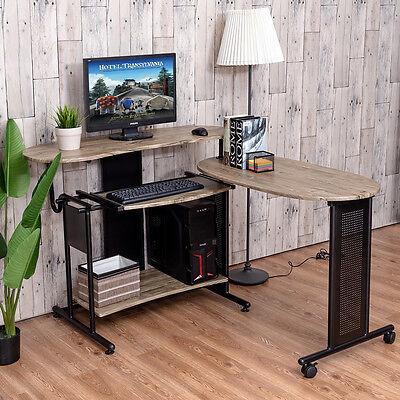 2 Of 9 Expandable Computer Desk L Shaped PC Laptop Table Corner Workstation  Home Office