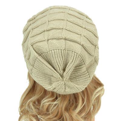New Acrylic Unisex Chunky Knit Beanie Slouchy Hand Knit Hat Beanie Winter Hats 3