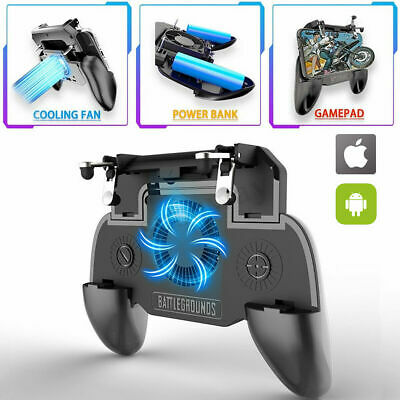 PUBG Mobile Phone Game Controller Joystick Cooling Fan Gamepad for IOS Android 6