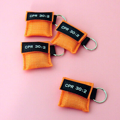100 CPR MASK KEYCHAIN CPR FACE SHIELD POCKET AED TRAINING  CPR 30:2 Disposable 2