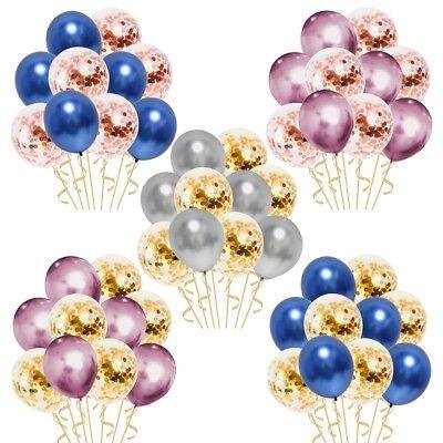 10 Pièces / Lot Chrome Confettis Ballons Bouquet Fête D'Anniversaire Décor 2
