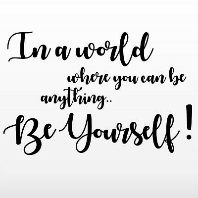 Quote Rose Gold Wall Stickers In a world Chrome Custom Be yourself 2