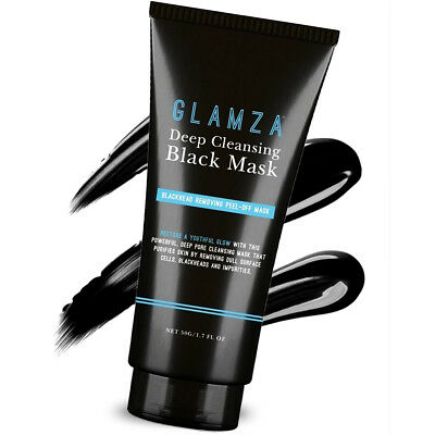 Glamza Charcoal Blackhead Remover Peel Off Facial Cleaning Black Face Mask 50g 4