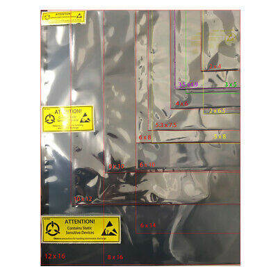 SHL Antistatic Metallic Shielding ESD bag Various Sizes 2