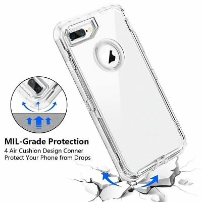 Fit Apple iPhone Clear Transparent Shockproof Protective Armor Heavy Duty Case 3
