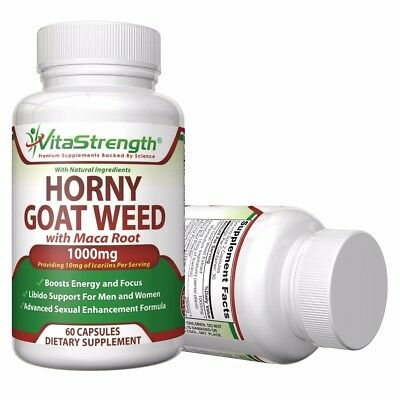 Premium Horny Goat Weed With Maca Root Female And Male Enhancement Herbs
