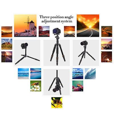 ZOMEI Q666 Portable Professional Tripod&Ball Head Travel for Canon DSLR Camera 6